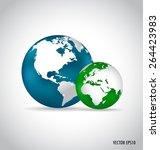 modern globe. vector... | Shutterstock .eps vector #264423983