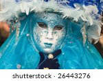 beautiful woman at the carnival ... | Shutterstock . vector #26443276