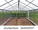 the greenhouse polycarbonate... | Shutterstock . vector #264435557