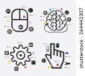 technology infographic | Shutterstock .eps vector #264442307