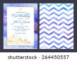 wedding invitation in nautical... | Shutterstock .eps vector #264450557
