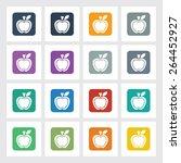 very useful flat icon of apple...