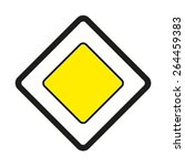 warning traffic signs. priority ... | Shutterstock .eps vector #264459383