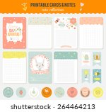 romantic and love cards  notes  ... | Shutterstock .eps vector #264464213