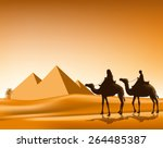 Group Of Arab People With...