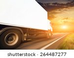 white truck on the asphalt... | Shutterstock . vector #264487277