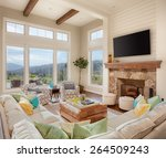 furnished living room in luxury ... | Shutterstock . vector #264509243