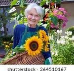 Close Up Happy Elderly Woman...