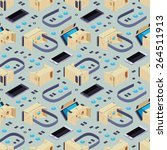 seamless pattern with isometric ... | Shutterstock .eps vector #264511913
