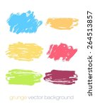 hand drawn colored textures and ... | Shutterstock .eps vector #264513857