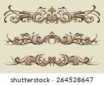 floral ornaments set vector... | Shutterstock .eps vector #264528647