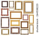 set of vintage wood frame... | Shutterstock . vector #264538223