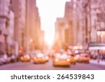 rush hour with defocused yellow ... | Shutterstock . vector #264539843