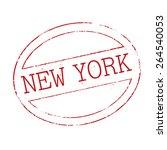 vector stamp of new york | Shutterstock .eps vector #264540053