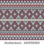 vector seamless tribal pattern... | Shutterstock .eps vector #264550403