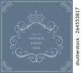 vector decorative frame | Shutterstock .eps vector #264553817