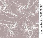 iris graphic  pattern seamless   Shutterstock . vector #264563303