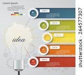 design business chart 5 steps... | Shutterstock .eps vector #264577307