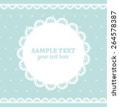 set of lace frame doily and... | Shutterstock .eps vector #264578387