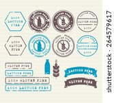 gluten and lactose free stamps... | Shutterstock .eps vector #264579617