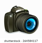 camera icon side view on white... | Shutterstock .eps vector #264584117
