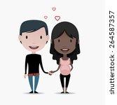 pregnant couple | Shutterstock .eps vector #264587357
