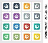 very useful flat icon of eight...