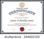 vector certificate template. | Shutterstock .eps vector #264602153