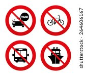 no  ban or stop signs.... | Shutterstock .eps vector #264606167