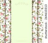 vector vintage green invitation ... | Shutterstock .eps vector #264610313