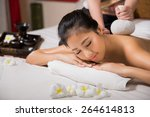 woman having massage and spa... | Shutterstock . vector #264614813