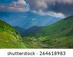 carpathian mountain range | Shutterstock . vector #264618983