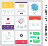set of flat design ui and ux...