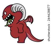cartoon illustration of angry... | Shutterstock .eps vector #264628877