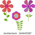 isolated flower vectors   Shutterstock .eps vector #264645287