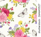 Seamless Floral Pattern With...