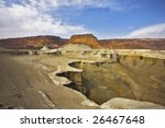 dry canyon in ancient mountains ... | Shutterstock . vector #26467648