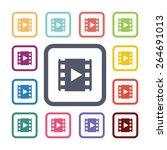 video flat icons set. open...   Shutterstock . vector #264691013