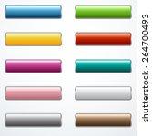 set of buttons | Shutterstock .eps vector #264700493