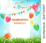 celebration background with... | Shutterstock .eps vector #264710207