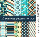seamless geometric bright... | Shutterstock .eps vector #264710633