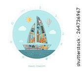 illustration of vector travel...   Shutterstock .eps vector #264736967