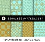 seamless patterns set.... | Shutterstock .eps vector #264737603