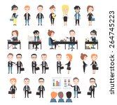 set office workers.   Shutterstock .eps vector #264745223