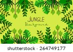 decorative jungle | Shutterstock .eps vector #264749177
