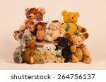 Stuffed Vintage Bears Sitting...