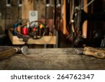 leather crafting tools on... | Shutterstock . vector #264762347