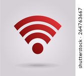 wireless network symbol.... | Shutterstock .eps vector #264763667