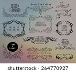 set of calligraphic and floral... | Shutterstock .eps vector #264770927