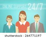 modern flat vector illustration ... | Shutterstock .eps vector #264771197
